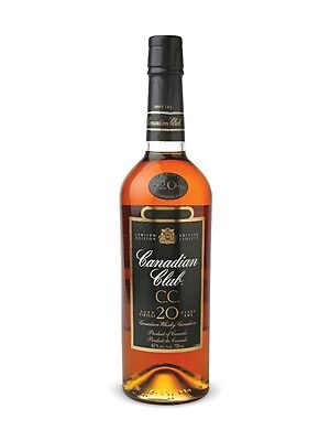 Canadian Club 20 Year Old Canadian Whisky 750ml No BOX