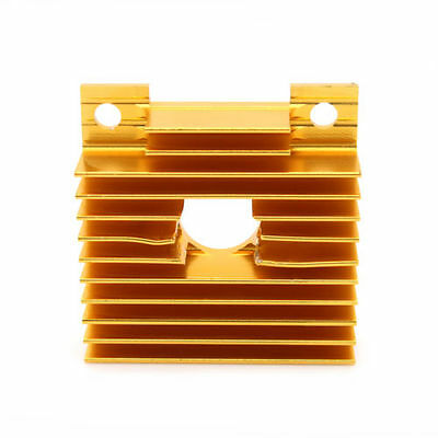Gold Anodized Aluminium Heatsink For 3D Printer Extruder Cold End 4 x 4 x 1.1cm