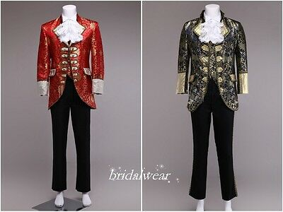 18th Century European Style Jacquard Men's Cool Royal Costume