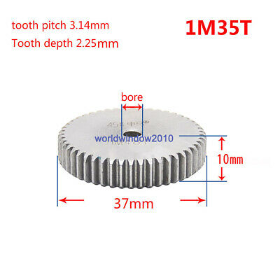 1 Mod 35T Spur Pinion Gear 45 Steel Gears  Tooth Diameter 37MM Thickness 10MM