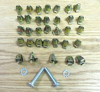 1955 1956 1957 CHEVY NOMAD TAIL GATE BAR CLIP SET  with HANDLE SCREWS * USA MADE