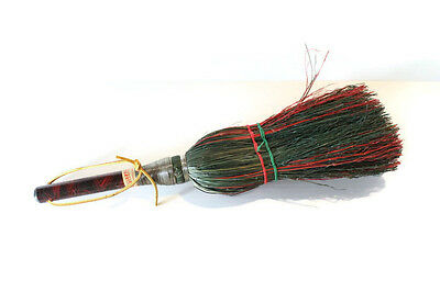 PIONEER VILLAGE BROOM red green broom Nebraska souvenir keepsake straw decor