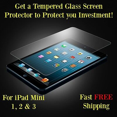 Tempered Glass Screen Protector for Apple iPad Mini 1, 2 & 3 Ultra Thin 0.3mm