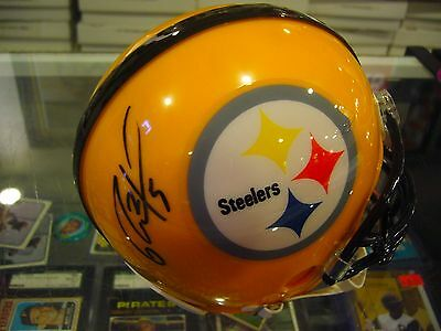 Ryan Clark Pittsburgh Steelers Signed Mini Helmet Sportsmemorabilia.com