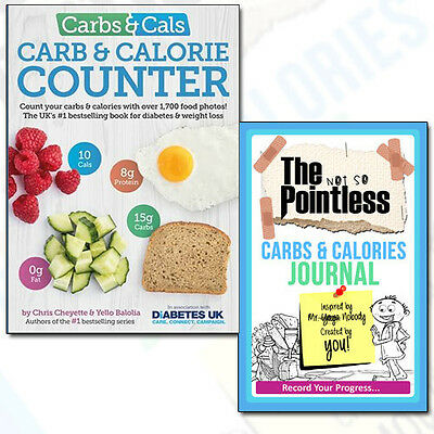 Carbs & Cals Count Collection 2 Books Set Pack Carbs & Calories Journal NEW