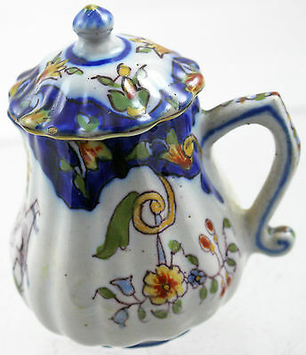 Antique French Faience Quimper Lidded Creamer #4