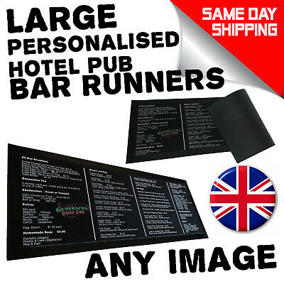 Personalised Bar Runner Beer Mat Beer Party Drip Mat Cocktail Dad Gift Christmas