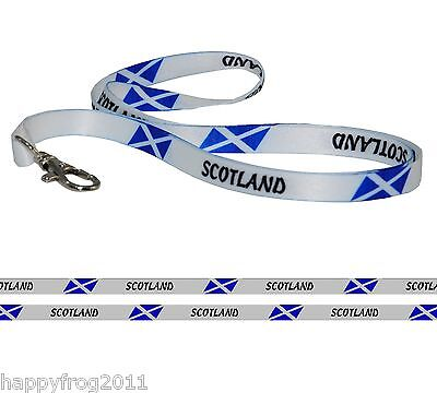 Satin SCOTLAND FLAG LANYARD Neck Strap for Mobile Ipod Conference Pass Badge