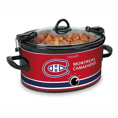 Crock-Pot NHL 6Qt Manual Cook & Carry Slow Cooker, Montreal Canadiens