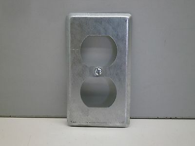 """Steel City 58-C-7 Duplex Receptacle Covers Utility Outlet Boxes 2-1/8"""" Wide"""