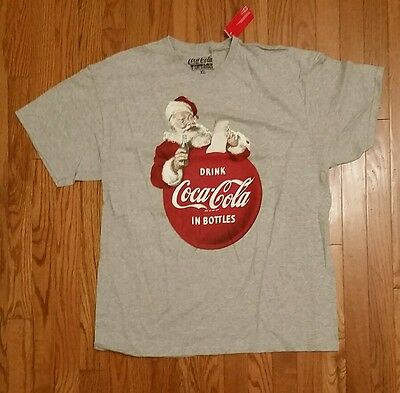 Coca-Cola Vintage Santa Clause Logo T Shirt Drink Coca-Cola in Bottles NWT