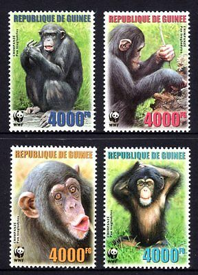 Guinea 2006 Monkeys Set 4 MNH