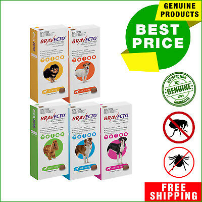 Bravecto for Dogs flea and tick treatment All Sizes 1 Chew by Merck AU Seller