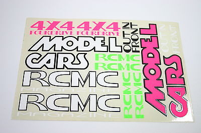 Vintage RCMC Model Cars Magazine Decals / Stickers