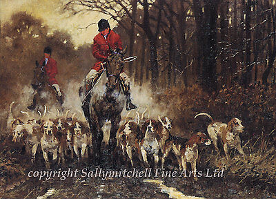 Fox Hunting Country Sports Christmas cards pack of 10 by Malcolm Coward B8x