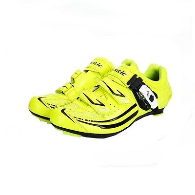 Santic Women's Professional Road Cycling Bike Bicycle Shoes 36-39 Sizes Yellow