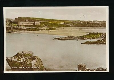 Channel Islands ALDERNEY Corblets Bay RP PPC Used 1961