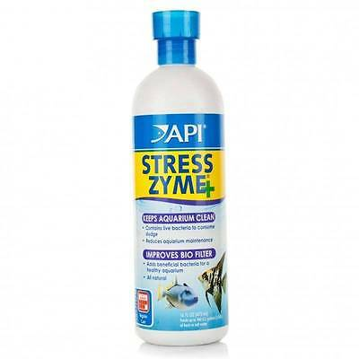 Api Stress Zyme Biological Live Bactera 30/118/237/473 Ml Fish Tank Medic