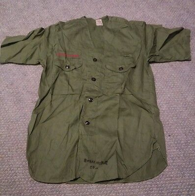 008 Vintage Boy Scout BSA Uniform Shirt Sanforized