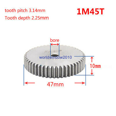 1 Mod 45T Spur Gears 45 Steel Gears  Tooth Diameter 47MM Thickness 10MM