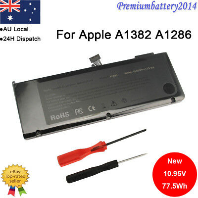 "Battery A1382 For Apple Macbook Pro 15"" A1286 2011, Mid 2012 77.5Wh"