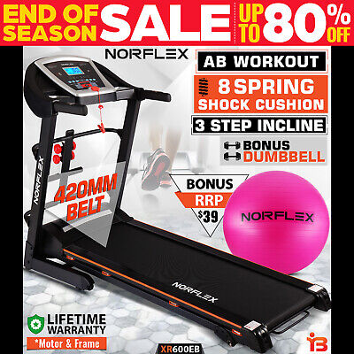 NEW NORFLEX 600E Electric Treadmill Home Gym Exercise Machine Fitness Equipment