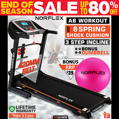 NEW NORFLEX Electric Treadmill Exercise Equipment Machine Motor Fitness Home Gym