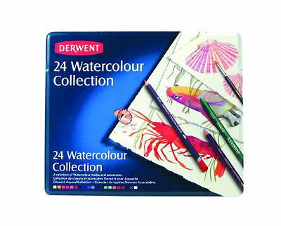 Derwent - Watercolor Collection, Metal Tin, 24