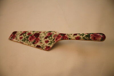 Victorian Rose Chintz Baum Brothers Formalities Pink Red Roses Pie Cake Server