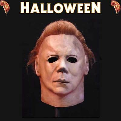 Halloween II (2) Michael Myers The Shape Official Deluxe Latex Mask
