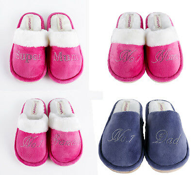 Crystal Best House slippers personalised Rhinestone home christmas gift