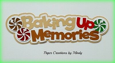 Craftecafe Mindy Baking Christmas title premade paper piecing scrapbook page