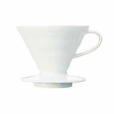 Hario Japan V60 ceramic dripper  white 02 1-4 cups  VDC-02W from Japan F/S