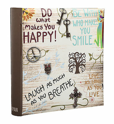 Large inspirational Slogans Slip In Memo Photo Album for 200 Photos 6x4'' DH200