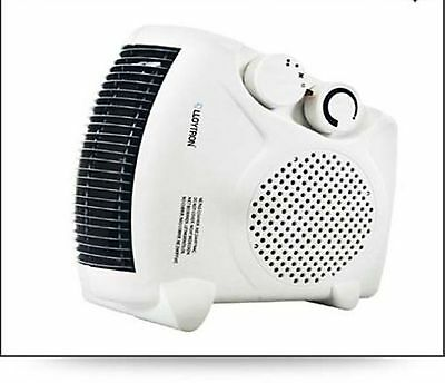 2000w Fan Heater with 2 Heat Settings & Cool Blow Thermostat Electric Flat