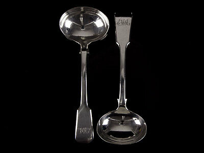 1841 Early Elkington & Co Silver Plated Pair of Ladles