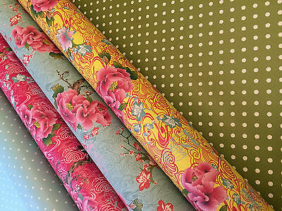 Waterproof Fabric Kitchen Tablecloth Vibrant Floral VINYL OILCLOTH, 1.3 x 2m