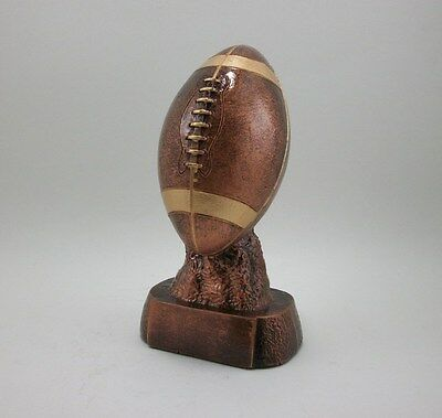 Bronze Resin  Football Trophy Award Youth or Fantasy League. Free engraving.