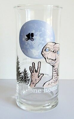 "Vintage  E.T. Pizza Hut Drinking Glass 1982 ""Phone Home"""