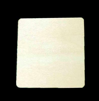 20 Unfinished Wood DIY Crafts Wooden Square Piece Scrapbooking Embellishment