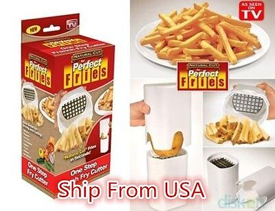 Perfect Fries One Step Natural French Fry Cutter Vegetable Fruit Durable Potato