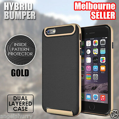 Gold NEW iPhone 6s / 6s Plus Case For Apple Crucial Bumper Hybrid Cover
