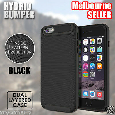 Black NEW iPhone 6s / 6s Plus Case For Apple Crucial Bumper Hybrid Cover