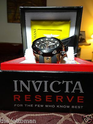 Invicta  0361 Mens Venom Reserve Collection - Rose Gold Chronograph Gift Boxed!!