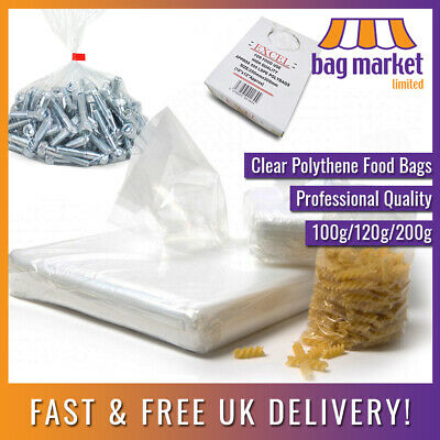 Clear Polythene Food Grade Bags! | Plastic/Freezer/Storage/Sandwich/Poly/Strong
