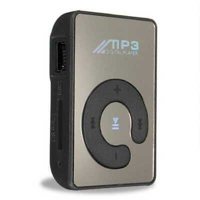 Mini Lettore Mp3 Player Specchio Clip USB Supporta Micro SD 2 4 8 32 Gb Nero