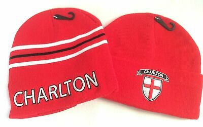 Men's Unisex Charlton Football Woolly Beanie Hat Red Acrylic/Polyester One Size