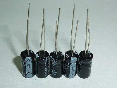 20 Pcs Rubycon YXH series 25V 100UF 105c High Ripple Current Long Life Capacitor