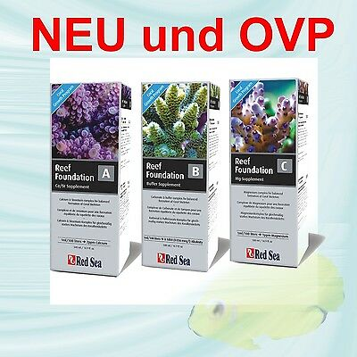 RED SEA Reef Fondation A, B, C 500 ml  S P A R P A K E T  NEU & OVP