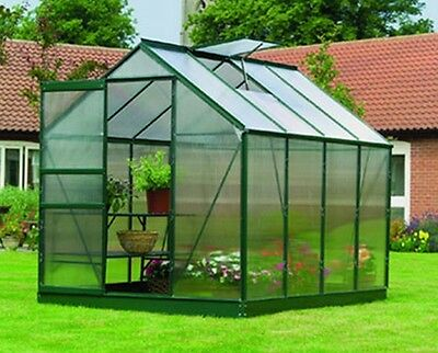Gardman Greenhouse Aluminium Polycarbonate With Steel Base Free Delivery 4 Sizes
